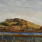 Where The Bay Meets The Hill Art Print