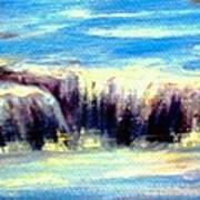 Where The River Flows Art Print