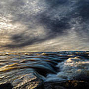 Where The River Kisses The Sea Art Print