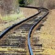 Where The Tracks Bend Art Print