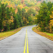 Where This Road Will Take You - Talimena Scenic Highway - Oklahoma - Arkansas Art Print