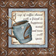 Whimsical Coffee 2 Art Print by Debbie DeWitt