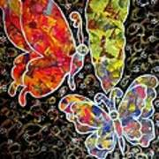 Whimsical Painting- Colorful Butterflies Art Print