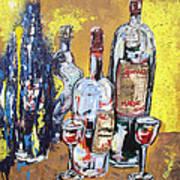 Whimsical Wine Bottles Art Print