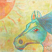 Whimsy Colorful Horse Art Print