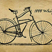 Whippet Bicycle Art Print