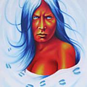 Whirlwind Woman Art Print by Robert Martinez