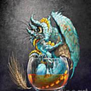 Whiskey Dragon Art Print