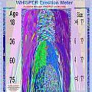 Whisper Erection Meter Graphic Design Is A Strategic Art Meaning That It Is Art That Is Planned To S Art Print