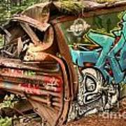 Whistler Train Wreck Stopping Point Art Print