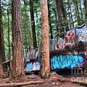 Whistler Train Wreckage In The Trees Art Print