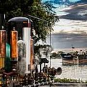 Whistles And Ship Art Print
