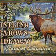 Whistling Meadows Elk Art Print by JQ Licensing