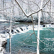 Whitaker Falls In Winter Art Print by Thomas R Fletcher