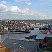 Whitby Rooftops Art Print