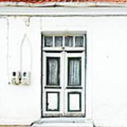 White And Green Door Art Print