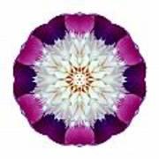 Bowl Of Beauty Peony II Flower Mandala White Art Print
