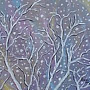 White Branches Art Print