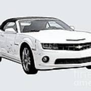 White Camaro Art Print