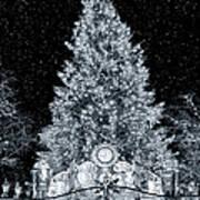 White Christmas In Texas Art Print