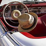 White Classic Mercedes Benz 230 Sl Art Print