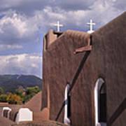 White Crosses At Taos Art Print