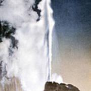 White Dome Geyser Yellowstone Np Art Print