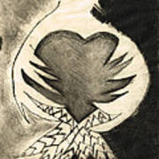 White Dove Art - Comfort - By Sharon Cummings Art Print