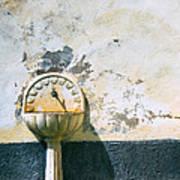 White Fountain Art Print