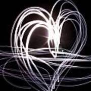 White Heart Art Print by Aya Murrells