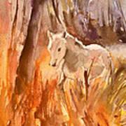 White Horse In The Camargue 01 Art Print