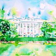 White House - Watercolor Portrait Art Print