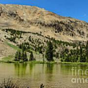 White Knob Mountain Lake Art Print