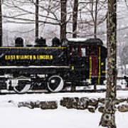 White Mountains Railroad And Train Art Print