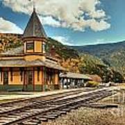 White Mountans Crawford Train Depot Art Print