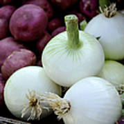 White Onions And Red Potatoes Art Print by Julie Palencia