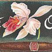White Orchid Cigar Label Art Print