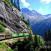 White Pass And Yukon Route Railway In Canada Art Print