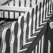 White Picket Fence Portsmouth Art Print