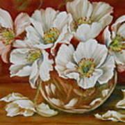 White Poppies Art Print by Summer Celeste
