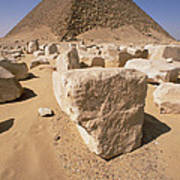 White Pyramid Of King Snefru Art Print