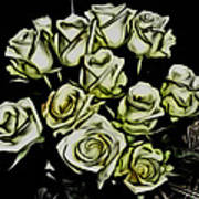 White Roses - Moving On Art Print
