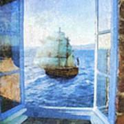 White Sails Art Print