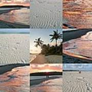 White Sand And Fire Water By Julia Fine Art  Art Print