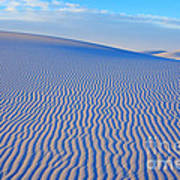 White Sand Patterns New Mexico Art Print by Bob Christopher