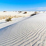 White Sands - Morning View White Sands National Monument In New Mexico. Art Print