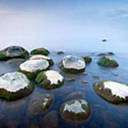 White Stones In The Water Art Print by Anna Grigorjeva