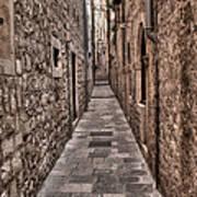 White Streets Of Dubrovnik No3 Art Print