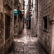 White Streets Of Dubrovnik No5 Art Print