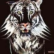 White Tiger 1 Art Print